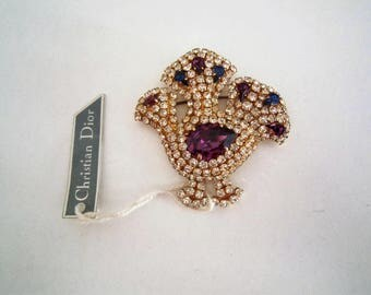 Vintage Christian Dior new cock brooch, 1980