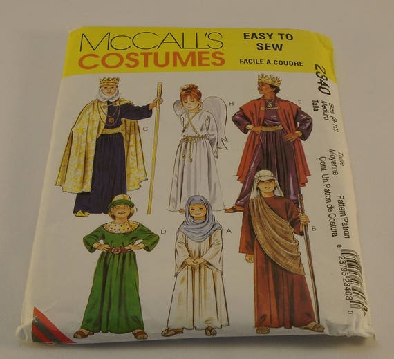 McCall\'s Pattern 2340 Easy To Sew Children\'s Costumes Size 8-10 ...