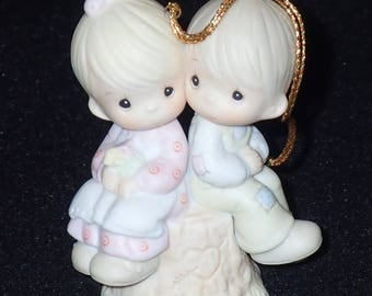 Precious Moments 1989 Love One Another Christmas Ornament #522929