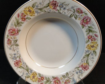 "Royal Jackson Fine China Maytime Soup Bowl Salad 8"" Rimmed EXCELLENT!"