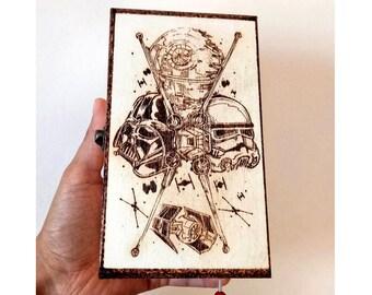 Star Wars, Wooden box Pyrography, Jedi, Film, Birthday, Bday, Geek, Gift, Present