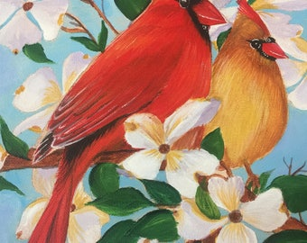 Red Cardinals Painting