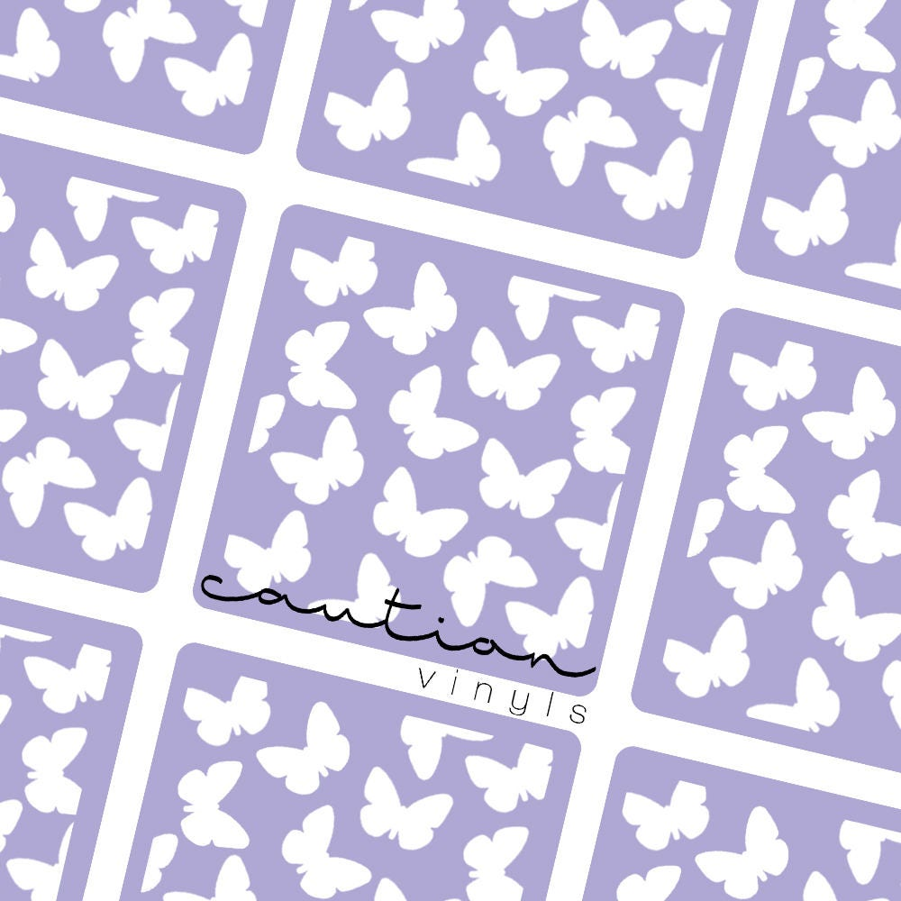 butterfly nail vinyl nail stencil for nail art. Black Bedroom Furniture Sets. Home Design Ideas