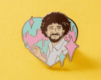 The Artist Enamel Pin // Bob Ross, Painting, Art, Crafty Pin // Funny pin badge