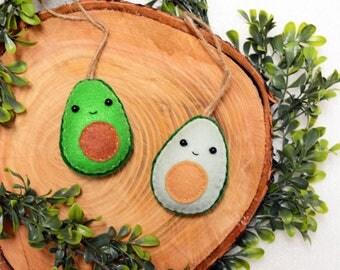 AVO LOVE - Keychain - Felt Plush Ornament - Gift for Him/Her, Birthday, Kid, Christmas Ornament Present - Cute, Punny, Soft Toy