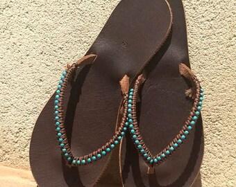 Sandals, Leather Sandals, Women Sandals, Flat Sandals, Flip Flops, Boho Leather Sandals, Greek Sandals, Summer Shoes, Beaded Sandals
