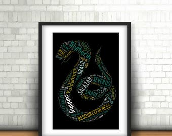 INSTANT DOWNLOAD -Slytherin Word Art Print