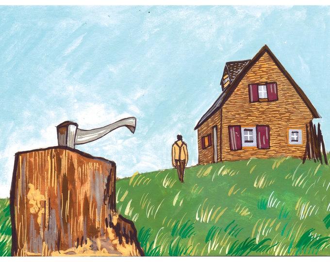 Belgian Farmhouse - Limited Edition Mini Print A5