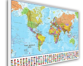 Large world map etsy push pin world map large world map push pin map for home or office sciox Images