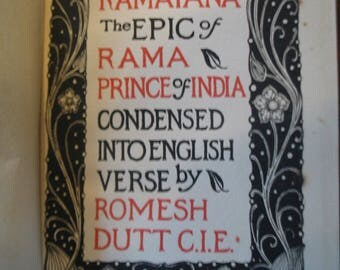 Ramayana - the epic of Rama, Prince of India - condensed into English verse - J. M. Dent  1899