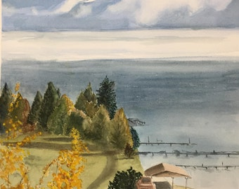 Watercolor original - Flathead Lake