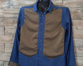 Men's 60s western style shirt/ rock and roll shirt