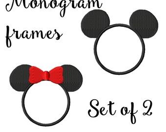 Monogram Frames Set of 2 Mouse frames