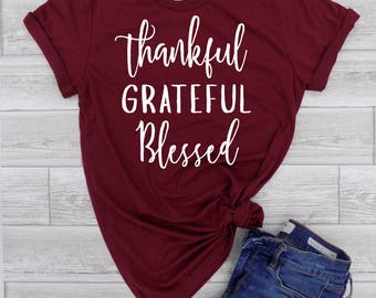 Thanksgiving Tee - Thankful Tee - Womens Fall Tee - Thankful Shirt - Fall Shirt Women - Fall T Shirt Women - Fall Tee - Cute Fall Shirt