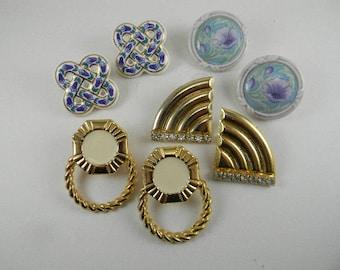 Vintage Pierced Earrings Lot