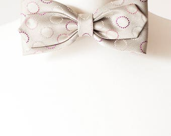 Light Grey Bow Tie, Bow Ties, Mens Bowties, Wedding bow tie, bow tie for men, Christmas Gift, mens tie