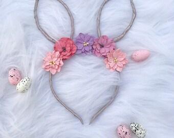 Easter Bunny Ears Flower Head Band Hair Band