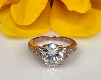 Moissanite 3.60ctw. Oval Cut With Genuine Diamond Accents Engagement Wedding Anniversary Ring #5384