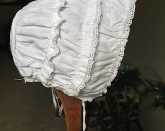 Circa 1900 doll bonnet