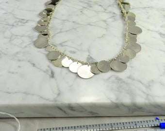 "Multi Disc Sterling Necklace (20"")"