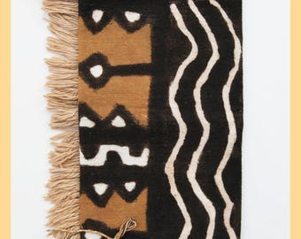 MUD CLOTH TEXTILE - African Naturally Hand Dyed Textile, From Mali, West Africa