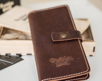 """Leather wallet """"Breidon"""""""