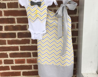 Vest and Bow Tie Onesie OR T'shirt daddy and me match clothes baby boy portrait family matching outfit mommy and me matching dresses skirts