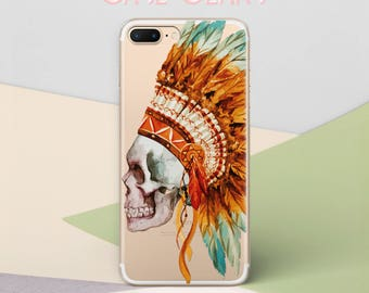 Skull Phone Case for Samsung Galaxy S8 Case iPhone 6s Phone Case iPhone 8 Case iPhone X Case iPhone 7 iPhone 6 Case Galaxy S6 Case CG1634