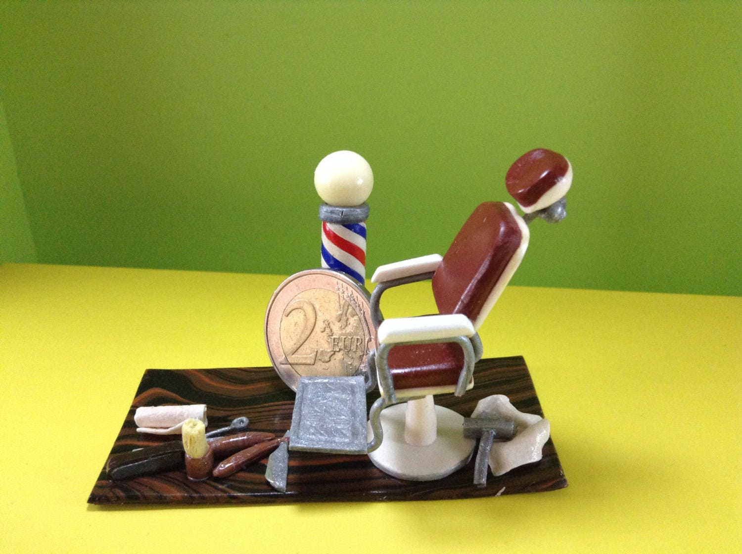 Personalized gift for barber. Cute Business card holder for desk ...