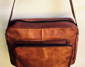 Leather Bag, Leather satchel, Casual Leather Bag, Leather Travel Bag, Leather Luggage