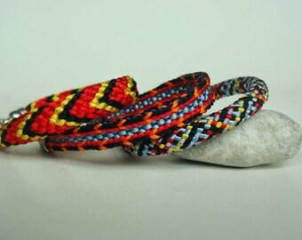 A set of three teens bracelets 6'bracelet Colorful bracelet Braided bracelet Kumihimo bracelet Teen girls bracelet