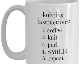 Funny Knitting Lover Mug 15 oz