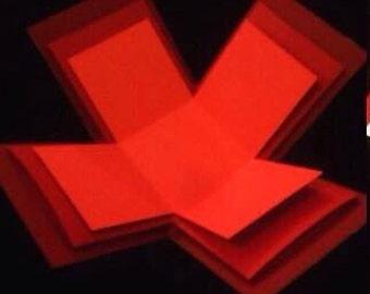 Blank 3-Layered base Exploding Box Card - Colour choice + Free 4 waterfall