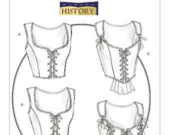 Sewing Pattern for Women's Laced Corsets with Peplum Variations, Butterick Pattern 4669, Halloween, Cosplay, Steampunk,Victorian,Everyday