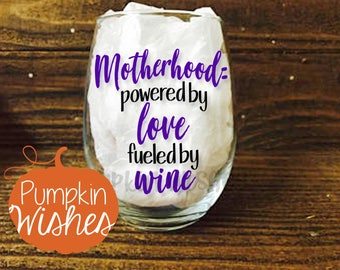 New Mom Wine Glass/Post Pregnancy Glass/Sassy Wine Glass/Stemless Wine Glass/Girls Gift/Mothers Day Gift