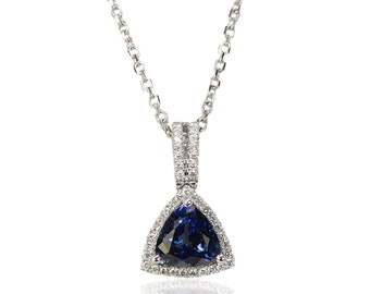 18K Tanzanite Necklace