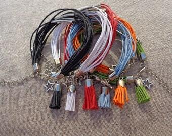 Waxed cotton bracelet silver bracelet Bangle Cuff Bracelet summer bracelet bracelet silver multi-tubes cotton