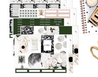 Unplug || Weekly Planner Sticker Kit|| for Erin Condren Vertical Layout