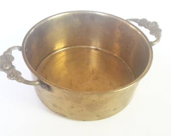 Vintage Brass Pot / Planter