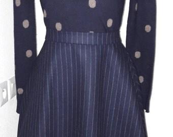 Wool skater skirt skirt