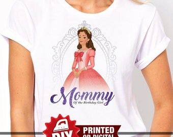 Printed or Digital - DIY Printable Sofia the First Iron On Transfer, Mommy of the Birthday Girl, Sofia the First Party, Princess Sofia