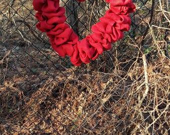 Valentines  wreath ,Red Burlap wreath, Heart Wreath, Wedding Wreath, Love Wreath, Red Wreath