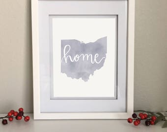 Personalized Home State Print, Custom Home Decor, Wall Art Printable, Digital Download Home, Kitchen, Living Signs, Custom State Art