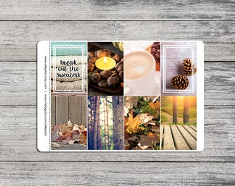Sweater Weather - MAMBI Happy Planner - 6 Sheet Planner Kit - Photography Sticker Kit