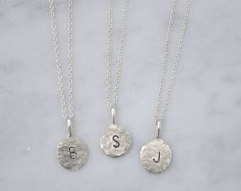 Initial Charm Necklace - Small