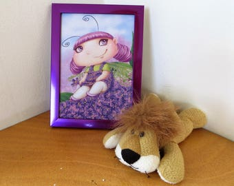 Purple Fairy Embroided with Beads
