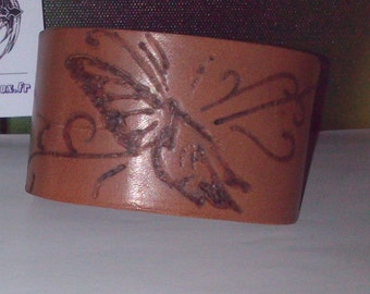 Leather Bracelet natural vegetable tanned