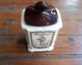 Antique Porcelain Coffee Jar