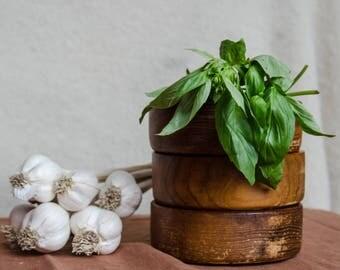 Vintage wooden bowls, set of 3.