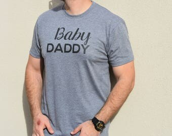 Baby Daddy Shirt. Mens Shirt. Fathers Day Gift. Pregnancy Announcement Shirt, Pregnancy Announcement Ideas. Baby Shower Gift. Funny Dad Tee